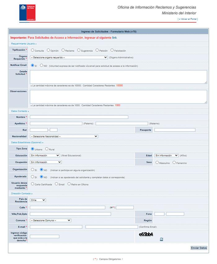 Solicitar información a través del Sistema de Información y Atención Ciudadana (SIAC)